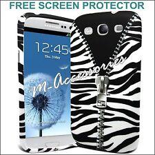 Zebra Cremallera Estampado Gel de silicona clip en la cubierta caja para Samsung