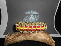United States Marine Corps (USMC) Desert Camo with stripes Paracord Bracelet