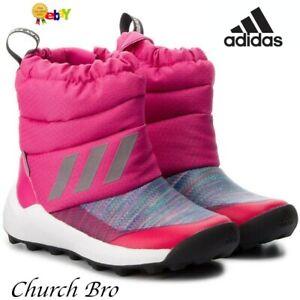 adidas Girls Kid's Rapidasnow Btw I High Rise Boots Size UK J2