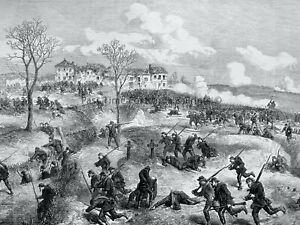 1871 Print FRANCE CIVIL WAR IN PARIS - PLATEAU OF CHATILLON Franco Prussian War