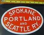 Microscale Metal Sign 10042 Spokane Portland and Ry. Die Cut, Metal Sign