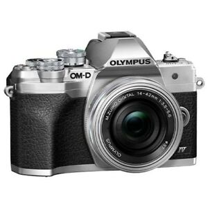 Olympus OM-D E-M10 Mark IV with 14-42mm EZ Lens Kit - Silver