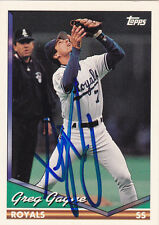 GREG GAGNE KANSAS CITY ROYALS SIGNED CARD MINNESOTA TWINS LOS ANGELES DODGERS
