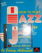 Jamey Aebersold: How To Play Jazz & Improvise - Book & CD - For All Instruments