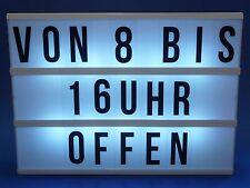 Anzeigentafel Leuchtreklame Leuchtkasten Werbeschild LED BELEUCHTET      57-6048