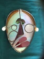 VINTAGE ABSTRACT WHIMSICAL METAL FACE Wall ART