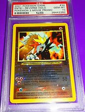 Pokemon Entei #34 Reverse Holo  Pokemon 3 Movie Promo Psa 10