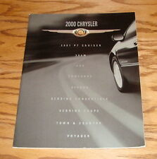 Original 2000 Chrysler Full Line Sales Brochure 00 LHS Concorde Town & Country