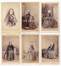More details for 6 x victorian cdv ladies fashion hooped dress bustle headdress  1860s 1870s