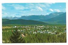 Vintage Canada Postcard Jasper Park Alberta Village Athabasca River Valley