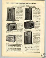 1936 PAPER AD Stewart Warner Metal Tube Battery Table Floor Console Radio 1485