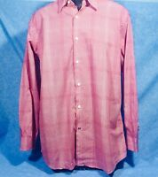 BEN SHERMAN Men's L/S Red Striped/Checked Shirt MINT CONDITION, Very Cool 😎