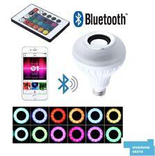 LAMPADA LAMPADINA - SPEAKER LED RGB E27 CASSA BLUETOOTH TELECOMANDO BULBO