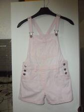 next age 8 years pink denim dungaree shorts