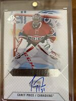 Carey Price Scripted Stoppers Auto 15-16 Sp Authentic