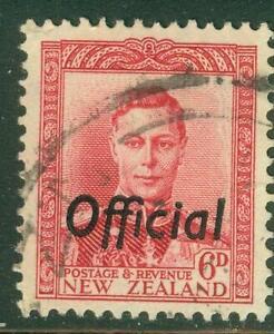 New Zealand. 1947. GVI. 6d. Red. Official.  BOB. U.