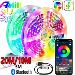 65.6ft 32.8ft 16.4ft Flexible Strip Fairy Light LED SMD Bluetooth Remote Lamp