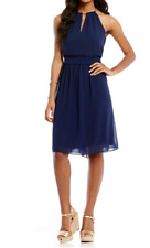 MICHAEL Michael Kors Hayden Chain-Neck A-Line Dress Size 2 True Navy MSRP $175.0