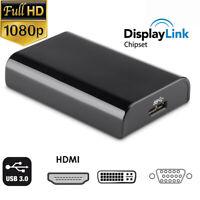 USB 3.0 to HDMI VGA DVI Converter Adapter Displaylink IC for wins10/8/7 mac.os