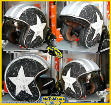 CASCO BANDIT ORIGINE REBEL STAR GREY OPACO AMERICA CUSTOM MOTO HARLEY CAFE RACER