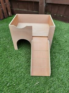 (UPDATED DESIGN) CAGE SIZE  GUINEA PIG CASTLE /SHELTER  right hand ramp