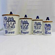 Metlox PoppyTrail Provincial Blue 8 piece Set-Flour/Coffee /Sugar/Tea (M1)