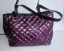 Nine West Women's Satchel Handbags, Size Medium Patent Leather Gloss Purple