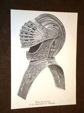 L'elmo in acciaio dell'armatura di A. Cortelazzo di Vicenza