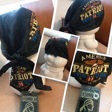 "nwt ""AMERICAN PATRIOT TRUE BLUE""DANBANNA DELUXE Doo Rag Head Wrap Capsmith Durag"