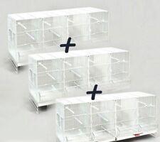 3 Jaulas de Cría para Pájaros Metro Pedros blancas