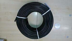 ISOLIERSCHLAUCH AUS WEICH PVC - 20,0 x 1,2 mm - 10 Meter -  SCHWARZ Bougierrohr