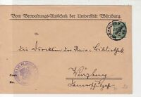 Germany 1925 Coat of Arms Worzburg Slogan Cancel Official Stamps Cover ref 22928