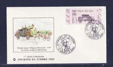 enveloppe 1er jour  journée du timbre  01 Ambérieu en Bugey  de carnet bdf 1989