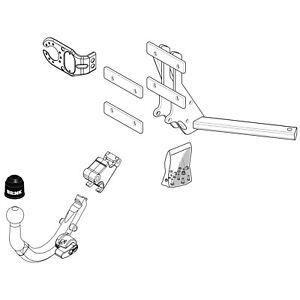 Brink Towbar for Saab 9-3 Convertible 2003-2008 - Detachable Tow Bar