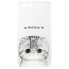 Coque Étui Souple TPU de Protection pour Apple iPhone 7 Meow Chat