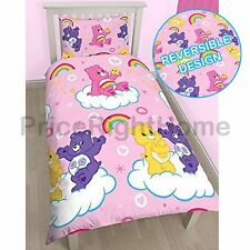 CARE BEARS SHARE SINGLE DUVET COVER SET NEW REVERSIBLE