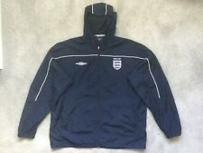 Inglaterra Umbro Fútbol Full Zip chaqueta con capucha de lluvia a prueba de agua ligera XXL