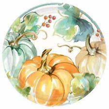 """Muted Autumn 8 ct 10"""" Dinner Plates Fall Pumpkin Thanksgiving Green"""