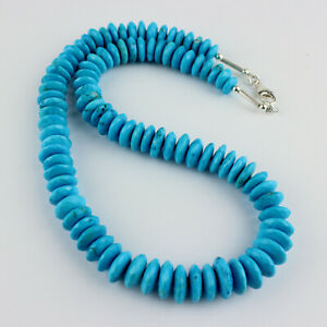 Turquoise (Processed) Necklace Precious Stone Facetted Beads ca.340 Carat
