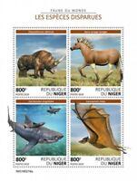 Niger - 2019 Extinct Species - 4 Stamp Sheet - NIG190219a