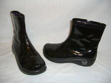 ALEGRIA Black Patent Vegan RAI-101 Raina Above Ankle Boots - 37 - 7 /7.5 M - EUC
