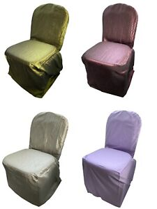 Banquet Chair Full Length Seat Covers Slip Wedding Home Dining Party Event