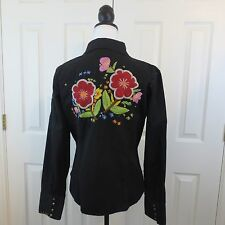 DB SPORT Floral Embroidered Black Red Green Ligth Jacket XL Studded
