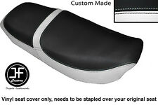 WHITE & BLACK VINYL CUSTOM FOR HONDA CB 650 SC NIGHTHAWK 82-85 DUAL SEAT COVER