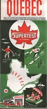1960 Supertest Road Map: Quebec NOS
