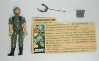 1982 GI Joe Officer Breaker Straight Arm v1 Figure w/ File Card *Complete READ*