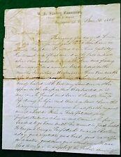 June 23rd 1864 Lincoln Hospital on Sanitary Comm. Paper....re: Lt. John E. Crain