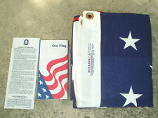 ANNIN BULLDOG 1420 Burial Casket Bunting Flag 5' x 9 1/2' CLOTH NEW USA MADE