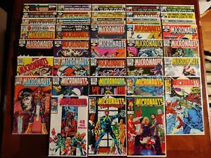 Marvel Comics Micronauts #3-7 10 12 19-21 26 32-34 36-38 49-59 Comic 38 Book Lot
