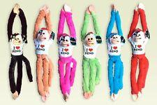 """RENO Plush Stuffed Animal Toy Hanging Monkey 18"""" w Sounds PICK ONE"""